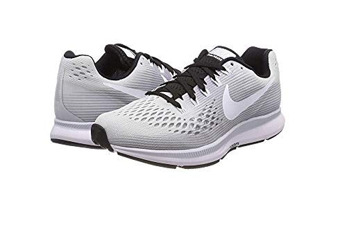 Nike Womens Air Zoom Pegasus 34 Running Shoe (5 M US, Pure Platinum/White-Black) by Nike (Image #2)
