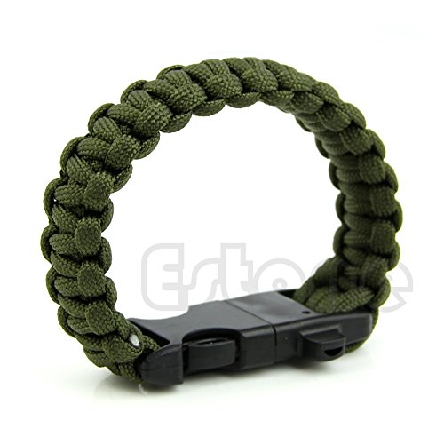 Paracord Outdoor Survival Bracelet Whistle Gear Kits Flint Fire Starter Scraper by Corazon.CRZ/Home/