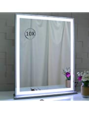 BEAUTME Vanity Mirror with Lights for Tabletop,Hollywood Lighted Makeup Mirror for Dressing Room & Bedroom,Big Desk Mirror Vanity