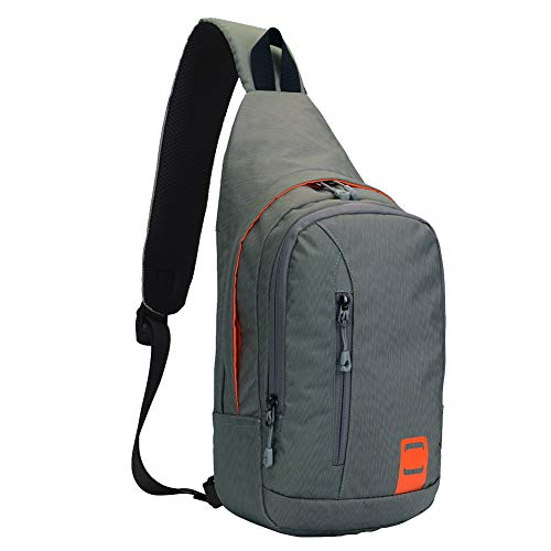 (Outdoor Chest Sling Shoulder Bag, Lecxci [Ultra-lightweight Waterproof Nylon] [Hiking Cycling Camping Travel] Sling Shoulder Chest Daypack Backpack Bag for Man/Women/College Teen Girls(Dark Grey)
