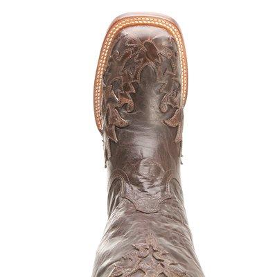Dan Legg Menns Brun Arbeid Støvler Skinn Cowboy Boots Stål Tå Brune