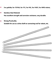 Straight Metal Rod, Round Rod High Accuracy Durable for Robots(4100-0006-0250)