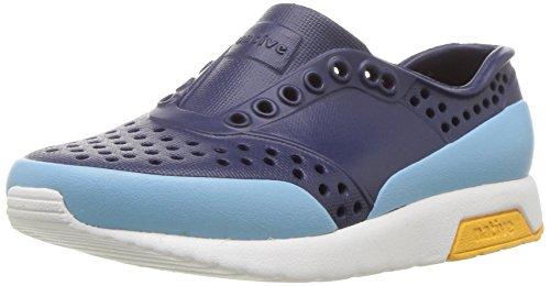 Price comparison product image native Kids Baby Lennox Block Child Sneaker,  Regatta Blue / Shell White / Beanie Yellow / Sky Block,  6 Medium US Toddler