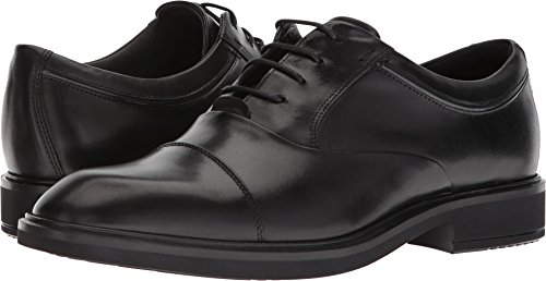 ECCO Men's Vitrus II Tie Oxford, Black Cap Toe, 47 M EU (13-13.5 US)