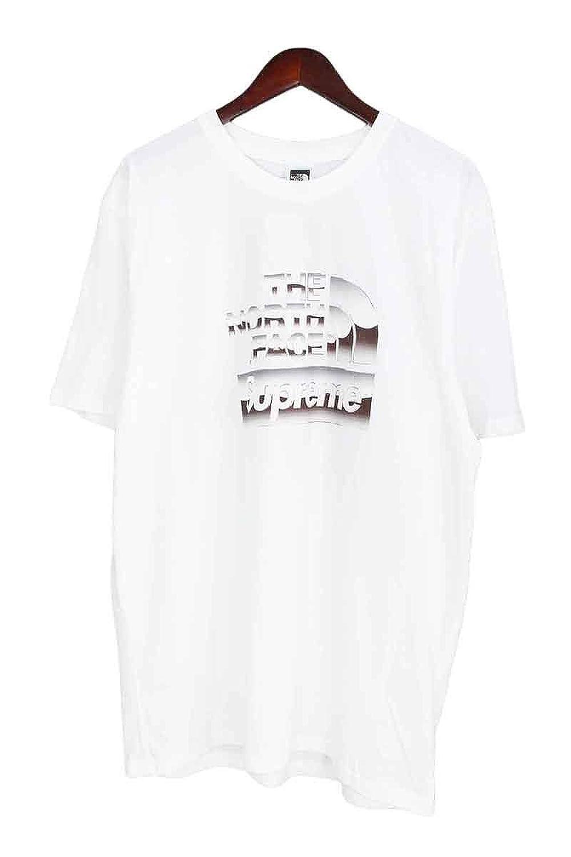 (シュプリーム) SUPREME ×ノースフェイス/THE NORTH FACE 【18SS】【Metallic Logo T-Shirt】メタリックロゴTシャツ(L/ホワイト) 中古 B07DMSQ1KL