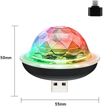 PeiQila USB Mini Disco Party Light lumi/ères Disco Ball Portables sans Fil activ/ées par Son Parti LED stroboscopique DJ Stage lumi/ère avec Prise Compatible