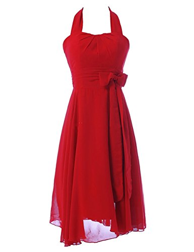 Chiffon Halfter Kleid Abendkleider Abendkleid Ballkleid CoCogirls für Party Rot Damen PdAwaHq