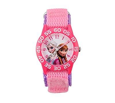 Disney Girls' Anna & Elsa Plastic Pink Watch by Disney