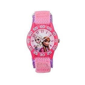 Disney Anna, Elsa Girls' Plastic Pink Watch