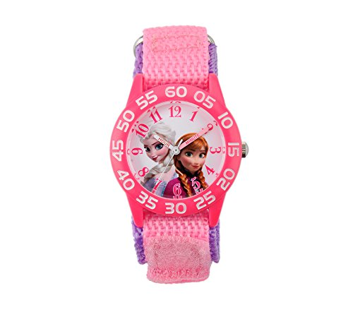 Disney Anna, Elsa Girls' Plastic Pink Watch
