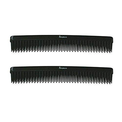 Denman D12 Black 3-Row Comb (Pack of 2) ()