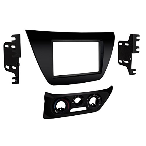 (Metra 95-7017B Double DIN Dash Kit for 2002-2007 Mitsubishi Lancer (Matte Black))