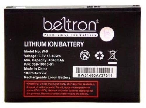 New 4340 mAh W-9 W9 Replacement Battery for Verizon Jetpack 4G LTE Mobile Hotspot AC791L & Netgear AC810 ()