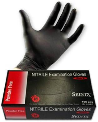 dispositivo m/édico de clase 1 M dispositivo de protecci/ón de categor/ía I M Guantes negros libres de polvo de nitrilo Exlite