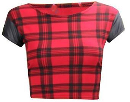 Women's Tartan Vest Crop Top