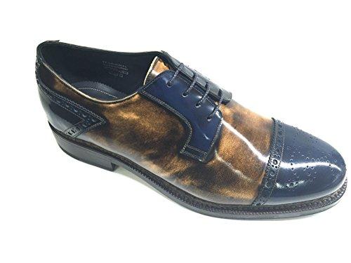 Harris - Zapatos de cordones de Piel para hombre BLU PRUGNA