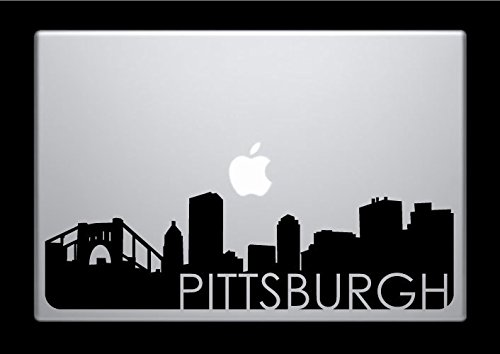 DecalGalleria - Pittsburgh Skyline Decal Sticker for MacBook, MacBook Pro and MacBook Air 11, 12, 13, 15, 17 - Galleria Pittsburgh
