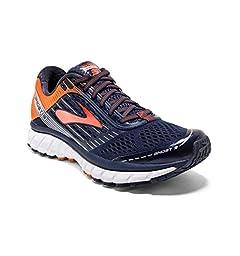 Brooks Men\'s Ghost 9 Running Shoes Peacoat/Red Orange/Black 12