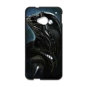 HTC One M7 Cell Phone Case Black Alien D2298649