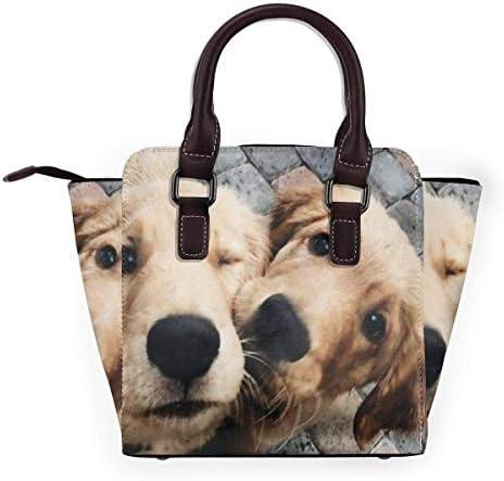 Borsa Tote Borse per cani con naso grande spazio a tracolla rivetto in pelle PU Design alla moda Borsa a mano con cerniera liscia per viaggi di lavoro all'aperto 10 19 cm