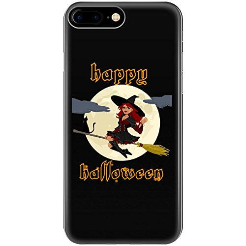 Happy Holloween Flying Happy Witch Gold - Phone Case Fits Iphone 6, 6s, 7, -