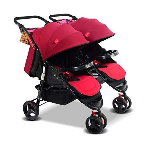 LQRYJDZ Los cochecitos dobles para bebés son cochecitos ...