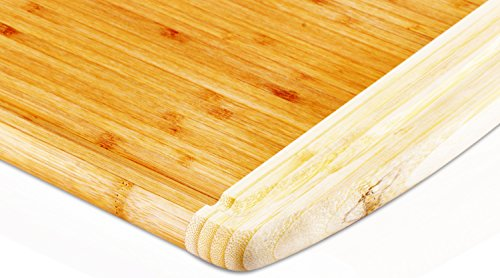 """41jNo q6g4L - Utopia Kitchen Natural Bamboo Gift Set with 3-Piece Wooden Utensils and a 14.5"""" x 11.5"""" Bamboo Cutting Board"""