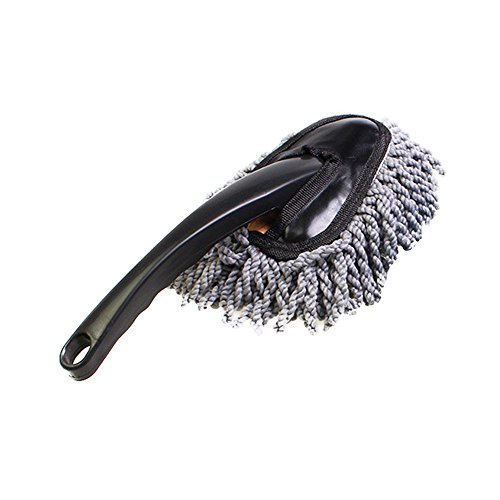 Car Supplies Wax Mop Dusting Super Soft Auto Dashboard Car Duster Polishing Washing Sponge Cleaning Pad Brush Wiper Car Wash Mop Soft Hair Sweeping Gray Brush Car Cleaning Tool Set (GY)