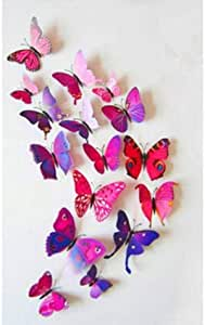 3D butterflies wall decoration - Purple