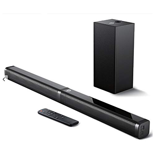 Bomaker Sound Bar with Subwoofer, Ultra-Slim 2.1 CH Sound Bars for TV, 100W/110dB, 5 EQ Modes, 31 Inch, Works with 4K…