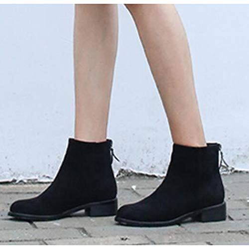 Black US8   EU39   UK6   CN39 Black US8   EU39   UK6   CN39 Women's Comfort shoes Suede Fall & Winter Boots Chunky Heel Booties Ankle Boots Black