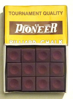 12 x BURGUNDY CHALK BY PIONEER**