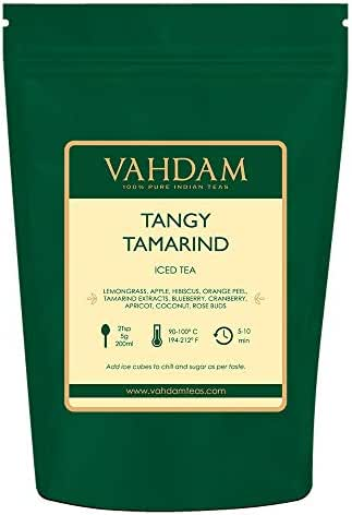 VAHDAM, Tangy Tamarind Iced Tea | 40 Servings, 8 Quarts | 100% Natural Ingredients | Delicious Flavor of Tamarind & Exotic Tropical Fruits | Herbal Iced Tea | Iced Tea Loose Leaf | 7oz