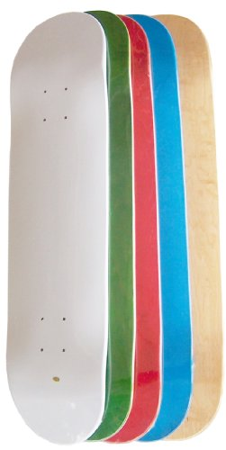 Moose Set of 5 Blank Skateboard Decks (Grip, Assorted Colors, 8.25-Inch)