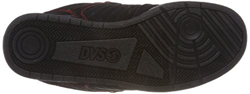 Red Chaussures Homme Nubuck Celsius Skateboard DVS 030 Shoes Noir Black Black de zHX1x