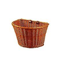 cesta de mimbre retro para bicicleta