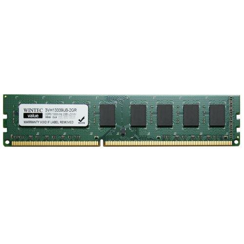Wintec Value MHzCL9 2GB UDIMM Retail 1Rx8 2 Not a Kit (Single) DDR3 1333 (PC3 10600) 240-Pin SDRAM 3VH13339U8-2GR (5800 Series Single)