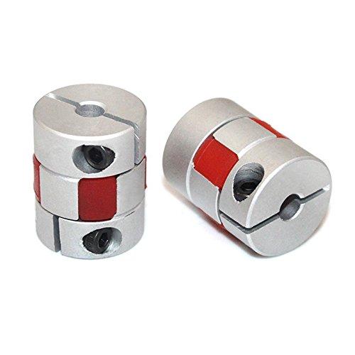 SODIAL 5mm a 10mm Accouplement d'arbre elastique de Longueur de 30mm Diametre 25mm Coupleur de moteur Connecteur de joint d'alliage d'aluminium pour l'encodeur de bricolage