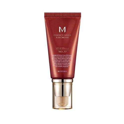 Cream Foundation Bb (Missha M Perfect Cover BB Cream SPF 42 PA No 27 Honey Beige)