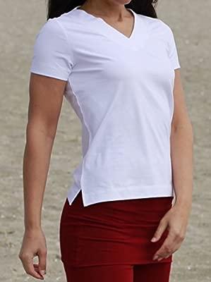 Esparto Farishta – Camiseta con Cuello de V (Farishta en algodón orgánico