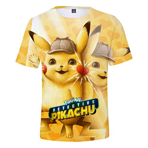(Oxking Kids Child Girls and Boys Unisex Family Comedy Movie Summer 3D Graphic Print T-Shirt Pokemon N01524H M)