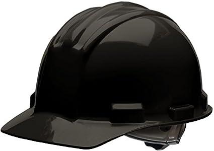Bullard 51bkr estándar serie Cap Estilo W/lluvia Trough Hard Hat, 4 punto trinquete