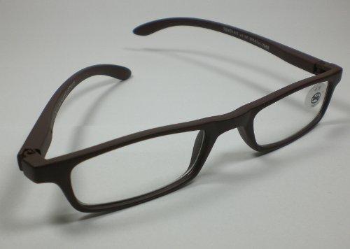 Moderna lettura occhiali da lettura marrone + 3,0 l'aiuto Diop. unisex donna/uomo occhiali lenti
