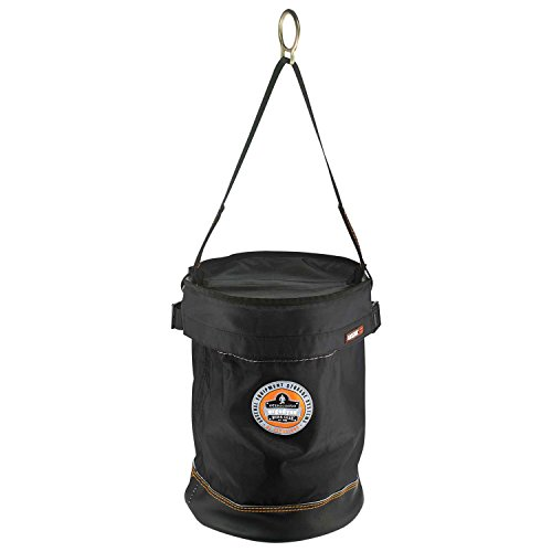 Ergodyne Arsenal 5650T Synthetic Leather Bottom Bucket-D-Ring with Top, 12.5-Inchx17-Inch, Black by Ergodyne