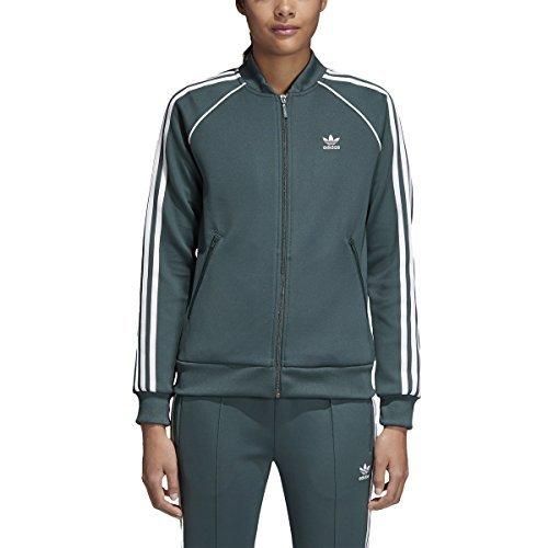 adidas Originals Women's SST Track Jacket Mineral Green - Jacket Track Adidas
