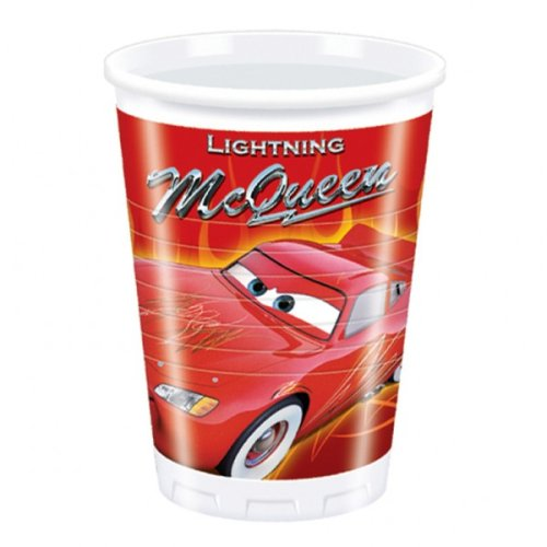 8 gobelets en plastique Disney Cars 2 - Flash McQueen