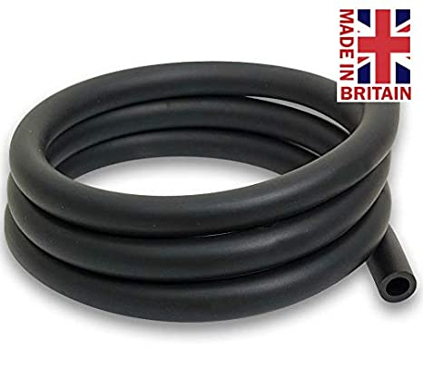 EPDM Rubber Tubing Brake Fluid Tube Coolant Radiator Hose - 4.5mm, 6.0mm, 9.0mm (9.0mm ID 3/8', 1 Metre) 9.0mm (9.0mm ID 3/8 Hilltop Products