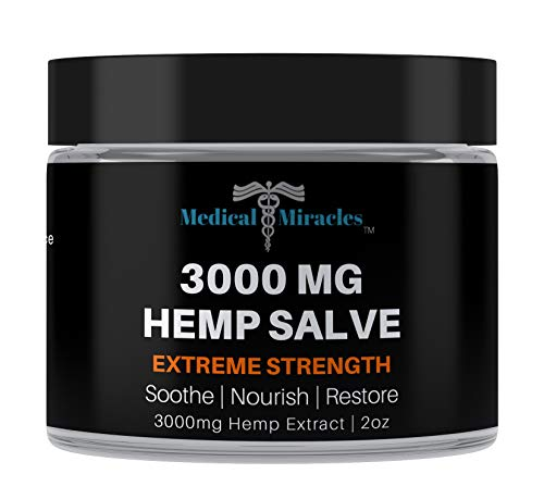 Lowest Prices! Medical Miracles Hemp 3000 Mg Extreme Strength Healing Hemp Salve, Relieves Inflammat...