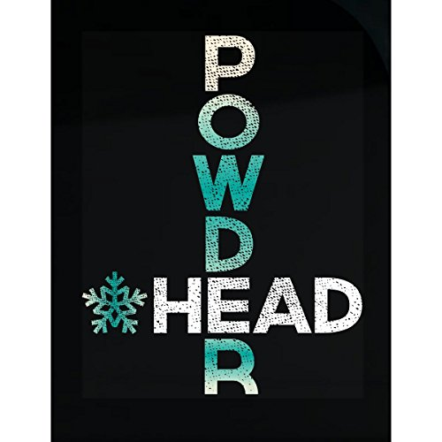 Funny Ski Gifts For Men Women - Skiing Gifts - Powder Head - Sticker