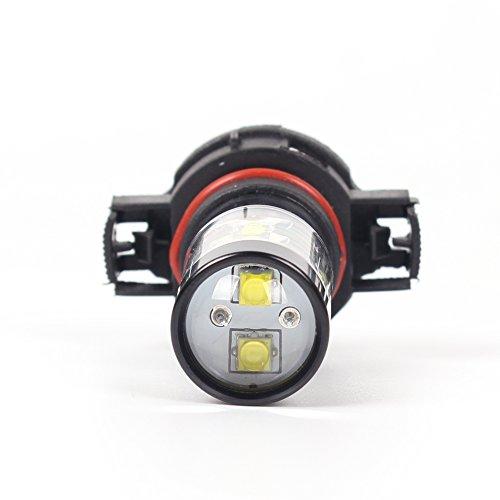 Alla Lighting 2504 PSX24W LED Fog Light Bulbs Super Bright PSX24W LED Bulb High Power 50W 12V LED PSX24W Bulb for 12276 2504 PSX24W Fog Light Bulbs Replacement, 6000K Xenon White (Set of 2) by Alla Lighting (Image #7)
